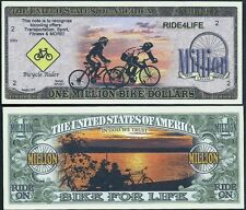 Bicycling One Million Bike For Life Dollars Fun Money Collectable Novelty Note
