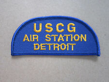 US Coast Guard Air Station Detroit Woven Cloth Patch Badge