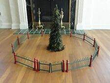 ANTIQUE AW DRAKE VICTORIAN CHRISTMAS FEATHER TREE FENCE DISPLAY PUTZ TRAIN VTG