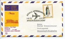 FFC 1972 Lufthansa PRIMO VOLO LH 317 Boeing 727 - Atene Dusseldorf