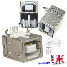 Preptec USB tipo B 90 grados Dip Hembra PCB de soldadura Conectores 4 Pines UK