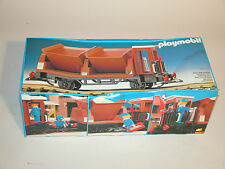 PLAYMOBIL 4112 SIDE TIPPER TRAIN CAR 1985 GERMANY NEAR MINT