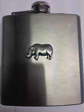 Hippo PP-A41 English Pewter 6oz Stainless Steel Hip Flask