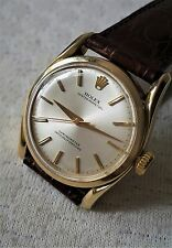 Old R olex 14K Gold Semi Bubbleback Bombay Lugs Watch c/w Vintage Leather Band