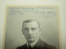 Autographe LANDRIN 1916  Photo A Bert Paris theatre 1916  Music Hall artiste