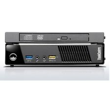 Lenovo Thinkcentre M73 10AX pequeño PC de escritorio i3-4130T 3.2GHz 4GB Ram 320GB Win 7