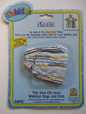 "xbx Shorts WEBKINZ PET CLOTHING 8"" dog cat monkey horse etc new with code"