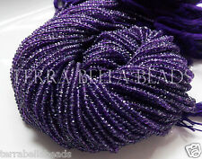 "12.5"" strand purple AMETHYST faceted gem stone rondelle beads 3mm"