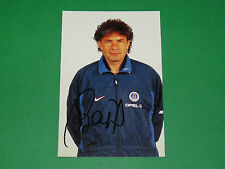 PHOTO CARTE JOËL BATS PARIS SAINT-GERMAIN PSG 1997 1998 DEDICACE