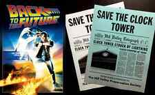 Back To The Future Save The Clock Tower Flier Set Prop/Replica Marty Mcfly   Fox