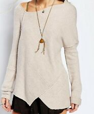 Free People NEW Love and harmony Pullover Sweater Top Oatmeal  NWT $128 S
