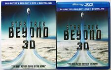 STAR TREK BEYOND 3D BLU RAY DVD 3 DISC SET + SLIPCOVER SLEEVE FREE WORLD SHIPPIN