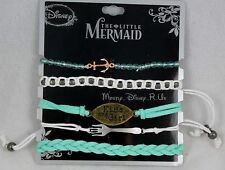 Disney Ariel The Little Mermaid Kiss the Girl Bracelet 5 Pack Charms Beads Set