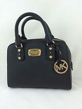 NEW Michael Kors Saffiano Leather Mini Satchel Shoulder Bag Purse Handbag Black