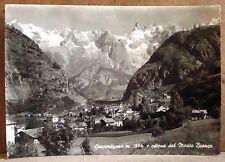 Courmayeur m.1224 e catena del Monte Bianco [grande, b/n, viaggiata]