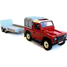 Britains 2836A2 Big Farm Land Rover Defender And General Purpose Trailer Set New