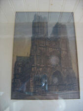 Vintage Paul Mansard Reims a Cathedrals Bombardier Drawing