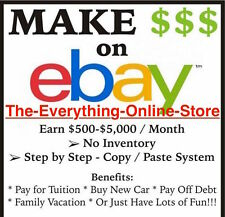 Make Money w/Your Own Ebay Amazon Walmart Overstock Dropshipping Online Business