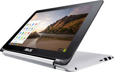 "Open-Box: Asus - Flip 2-in-1 10.1"" Touch-Screen Chromebook - Rockchip - 2GB M..."