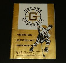 1965-66 BOBBY ORR Home Opener SIGNED Program Oct 9 Oshawa Generals Hockey LOA