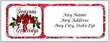 30 Personalized Address Labels Seasons Greetings Buy 3 get 1 free (ac328)