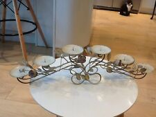 Cream shabby chic candle holder for 6 large candles,