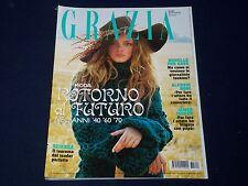 2007 OCTOBER 23 GRAZIA ITALIAN FASHION MAGAZINE - GREAT COVER & MODELS - O 499