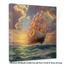 "Thomas Kinkade Wrap - Courageous Voyage  – 14"" x 14"" Gallery Wrapped Canvas"