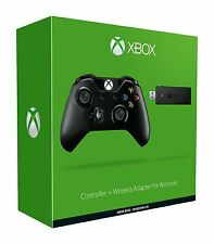 Ufficiale XBOX ONE Controller Wireless + Adattatore Wireless per Windows 10 (NERO)