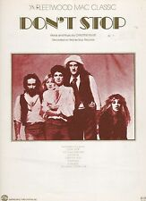 Fleetwood Mac Don't Stop (reddish cover) US Sheet Music