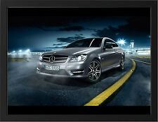 2013 MERCEDES BENZ C CLASS AMG NEW A3 FRAMED PHOTOGRAPHIC PRINT POSTER