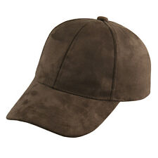 Unisex Men Women Suede Baseball Cap Snapback Visor Sport Sun Adjustable Hat ES