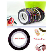 New 10 Colors 20m Nail Art Tips Striping Tape Line Sticker Manicure DIY Kit Hot