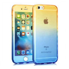 360° Front And Back TPU Soft Clear Gel Case Cover for iPhone 6 6s 6/6s/7/7 Plus