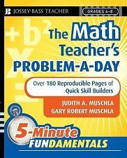 JB-Ed 5 Minute FUNdamentals Ser.: The Math Teacher's Problem-a-Day : Over 180...