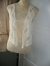 *NWT* FOREVER 21 LADIES BEADED WAISTCOAT STYLE TOP CREAM SIZE M 12-14