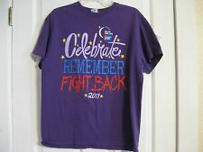 knit top t-shirt purple relay for life celebrate remember fight back 2011 cancer