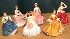 Royal Doulton 6 X Miniature Figurines Helen Annabel Gail Stephanie Bess Barbara