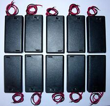 Battery holder for 2 X 'AA' (UM-3) cell - hard case- with switch - pack of 10