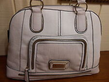NWT GUESS ALVINA WHITE MULTI DOME SATCHEL HANDBAG 100% AUTHENTIC