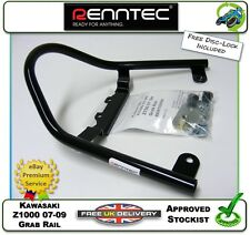 NEW GENUINE RENNTEC GRAB RAIL BARS IN BLACK FITS KAWASAKI Z1000 Z 1000 07 08 09