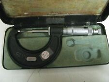 """Moore & Wright 0-1"""" .001"""" Point Micrometer in Case FH37"""