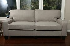 GREY Fabric Sofa Couch Love Seat College Dorm Apartment Living Room Modern 73""
