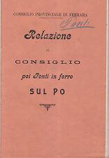 O737-FERRARA-RELAZIONE SUI PONTI DI FERRO SUL PO 1905