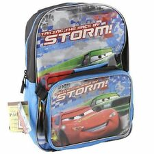 "Backpack 16"" + Detachable Lunch Bag Cars McQueen Storm NWT"