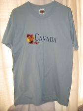 CANADA SHORT SLEEVE T-SHIRT – BLUE/GREEN - SIZE L – FRUIT OF THE LOOM