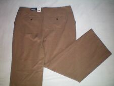 NWT NEW womens size 16 X 31 tan houndstooth plaid GEORGE dress pants modern fit