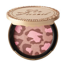 Too Faced PINK LEOPARD BLUSHING BRONZER~Full Size ~New in Box~DELIGHTFUL BEAUTY