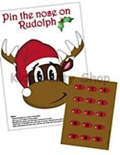 Christmas Party - Pin The Nose On The Rudolf Game for 15 - Free Postage in UK