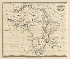 Carte repro antique Stanford Explorer routes Afrique grande impression artistique lf912